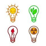Symboles d'ampoules Photos libres de droits