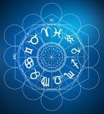 Symboles d'astrologie de zodiaque photo libre de droits