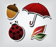 Symboles d'automne Photo libre de droits