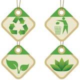 Symboles d'Eco Image stock