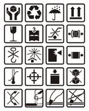 symboles d'emballage Images libres de droits