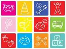 Symboles d'enfants Image stock