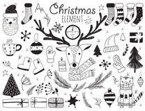 Symboles d'hiver de vecteur Image libre de droits