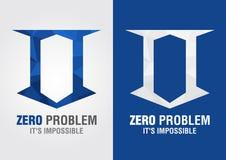 0 symboles d'icône de problème d'une lettre numéro zéro d'alphabet Images libres de droits