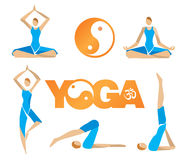 Symboles d'icônes de yoga Image libre de droits