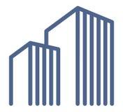 Symboles d'immeubles Images libres de droits