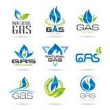 Symboles d'industrie du gaz illustration libre de droits