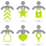 Symboles d'Internet avec des gens illustration de vecteur