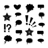 Symboles de bandes dessinées de JPEG. Photos libres de droits