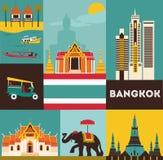 Symboles de Bangkok Images libres de droits