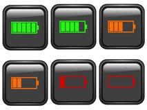 Symboles de batterie illustration libre de droits