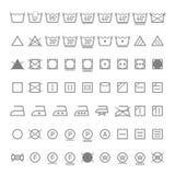 Symboles de blanchisserie Photo stock