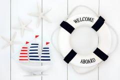 Symboles de bord de la mer Photo stock