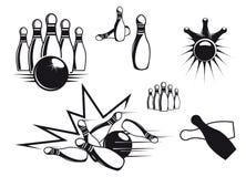 Symboles de bowling illustration libre de droits