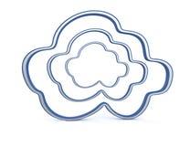 Symboles de calcul de nuage illustration stock