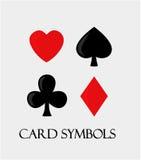 Symboles de carte. illustration libre de droits