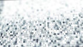 Symboles de code de sortilège de données numériques avec le DOF photographie stock