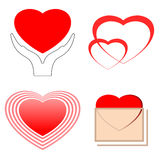 Symboles de coeur Photographie stock