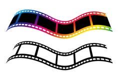 Symboles de concept de bande de film de vecteur d'isolement sur le bakcground blanc Photographie stock libre de droits