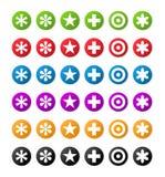 Symboles de couleur Photo libre de droits