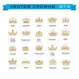 Symboles de couronnes de roi et de reine Photographie stock