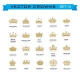 Symboles de couronnes de roi et de reine Images stock