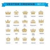 Symboles de couronnes de roi et de reine Photographie stock libre de droits