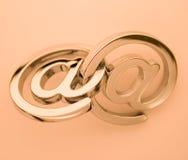 symboles de courrier d'e Image stock