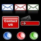 Symboles de courrier et de téléphone Photos libres de droits