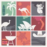Symboles de culture et de nature australiennes illustration stock