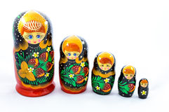 Symboles de culture russe - matrioshka Images libres de droits