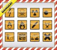 Symboles de danger illustration stock