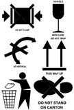 Symboles de empaquetage de cadre Image stock