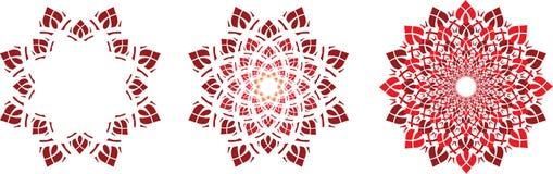 Symboles de fleur Photos libres de droits