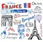 Symboles de Frances en tant que griffonnages géniaux Photographie stock