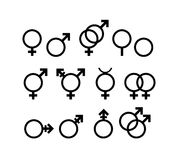 Symboles de genre Photos stock