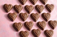 Symboles de jour de valentines de chocolat de forme de coeur de l'amour Images libres de droits