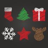 Symboles de Joyeux Noël et de nouvelle année Image stock