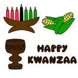 Symboles de Kwanzaa Image libre de droits
