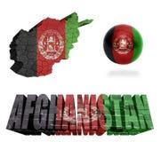 Symboles de l'Afghanistan Image libre de droits