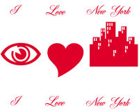 Symboles de l'amour N Y illustration stock