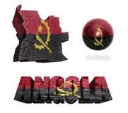 Symboles de l'Angola Image stock