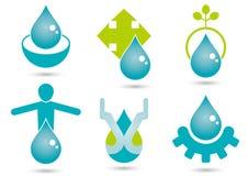 Symboles de l'eau illustration stock