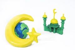 Symboles de l'Islam Objets faits à partir de l'argile de jeu Image stock