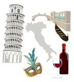 Symboles de l'Italie illustration stock