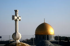 Symboles de la foi à Jérusalem image stock