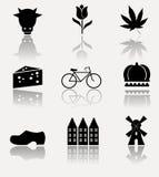 Symboles de la Hollande de collection - ensemble d'icône Image libre de droits