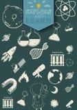 Symboles de la science et technologie illustration stock