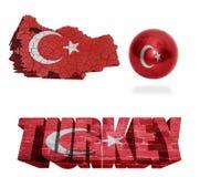 Symboles de la Turquie Photos stock