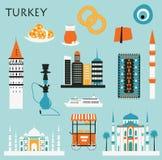 Symboles de la Turquie Photo stock